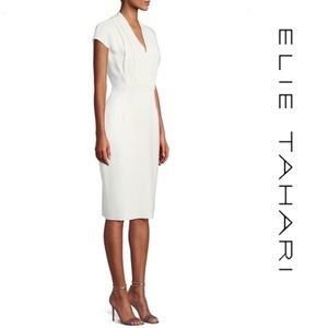 Elie Tahari Gerarda Crepe Sheath Dress*NWT